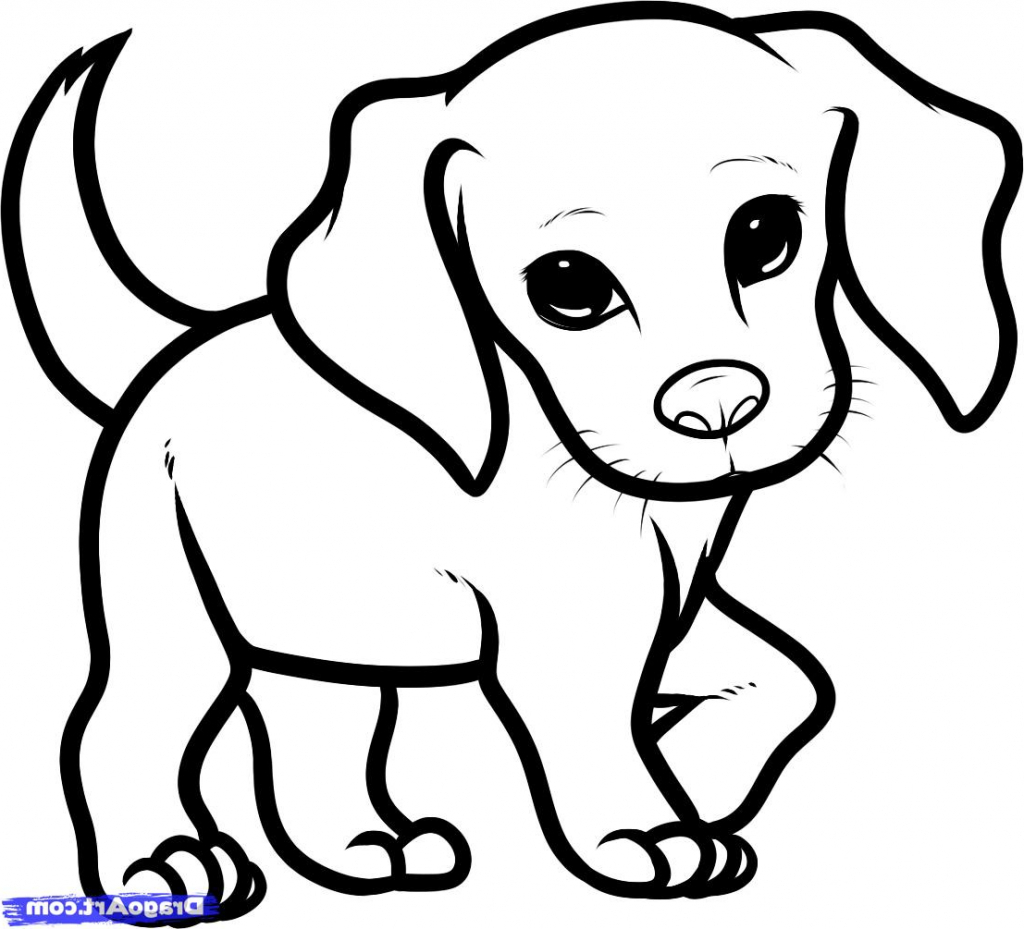 1024x929 Exclusive Ideas Beagle Coloring Pages How To Draw Puppy Drawing