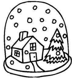 Snow Globe Drawing