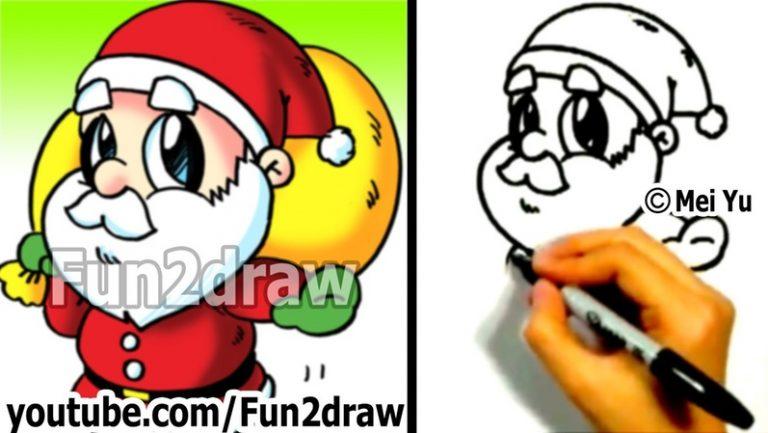 768x433 fun to draw christmas how to draw santa fun things art lessons fun