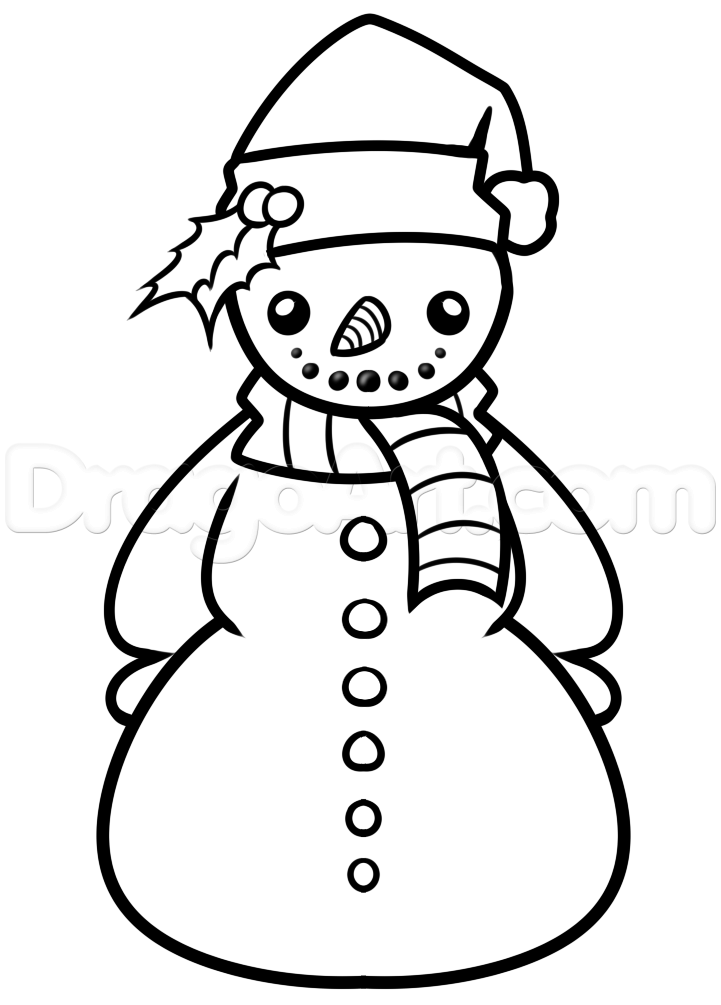 Snowman Drawing Images