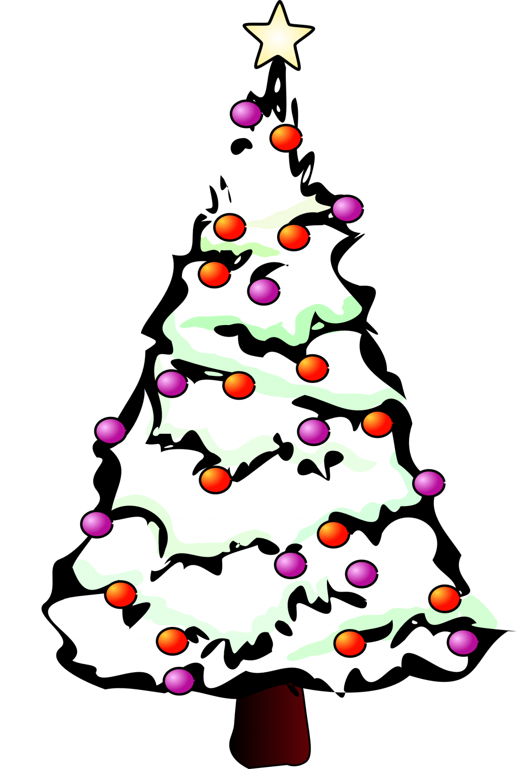 Snowy Tree Drawing | Free download on ClipArtMag