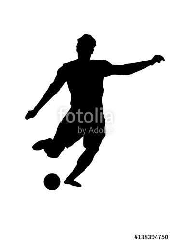 354x500 silhouette of a football player soccer player shooting creative