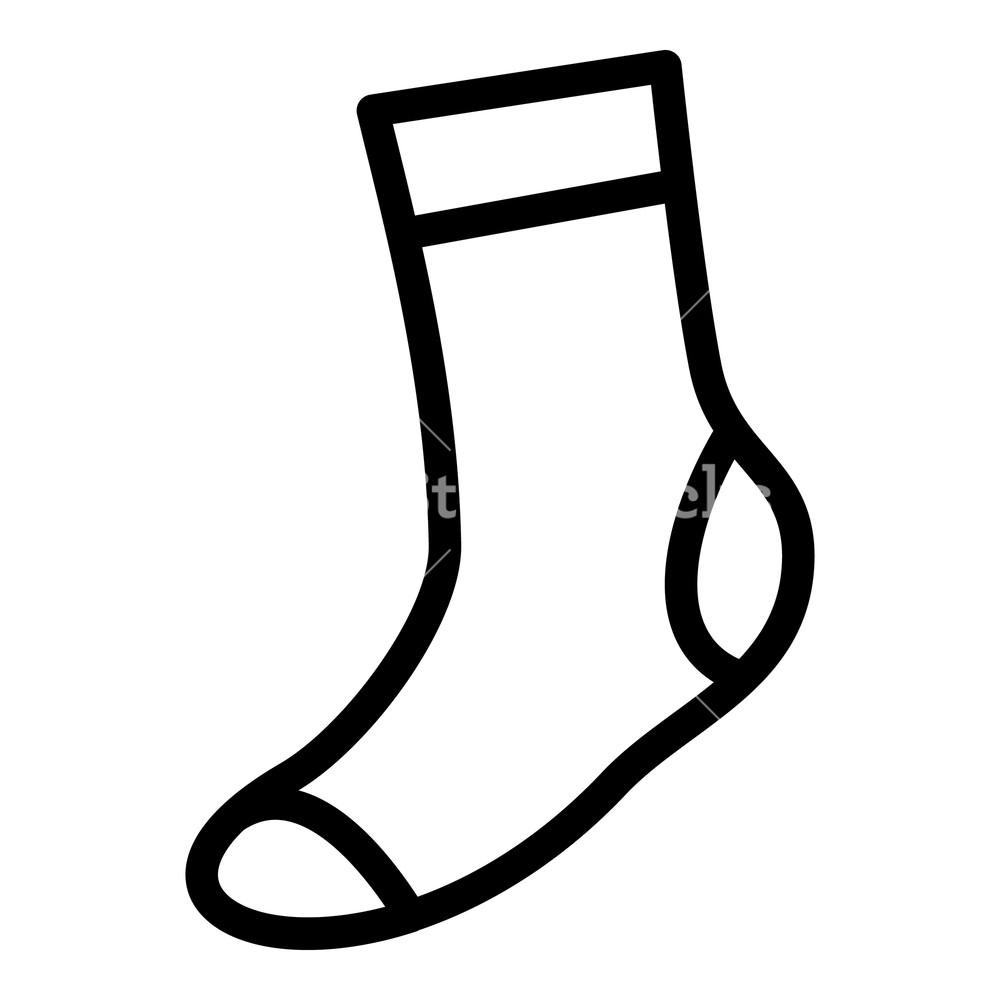 1000x1000 thin sock icon simple illustration of thin sock vector icon