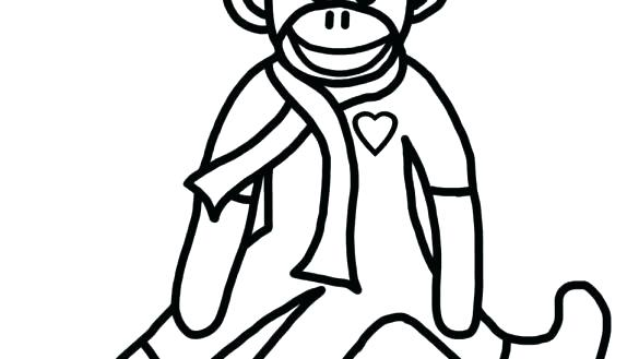 585x329 sock monkey coloring pages sock monkey g