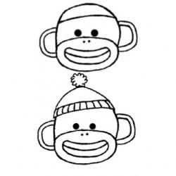 250x250 sock monkey sock monkey party dibujos, sellos, punto de cruz