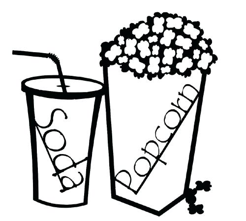 500x449 drawings of popcorn vector popcorn drawings of popcorn and soda
