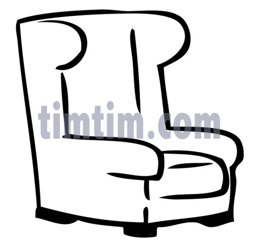 510x480 Free Drawing Of An Easy Chair Bw From The Category Building Home