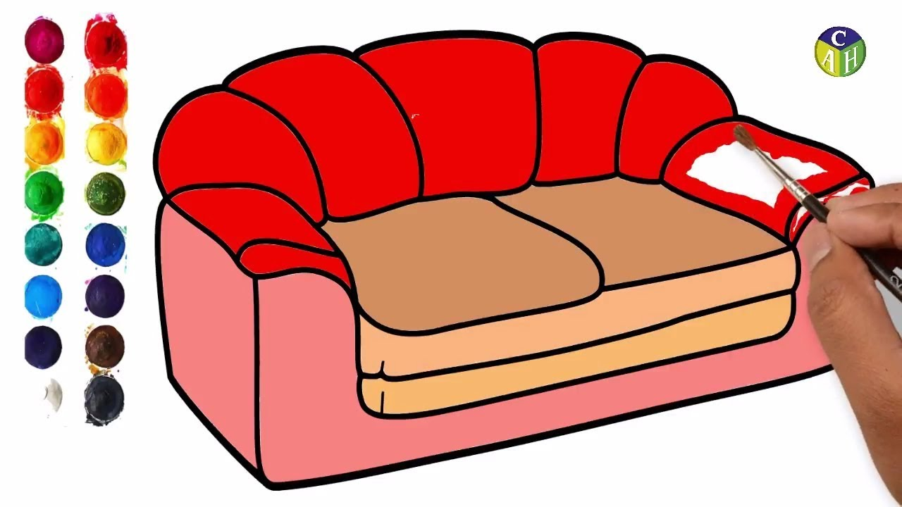 1280x720 How To Draw Furniture Draw Sofa Set Color Pages Color