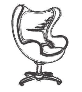 268x300 Retro Drawing Art Of Fancy Sofa Royalty Free Stock Image