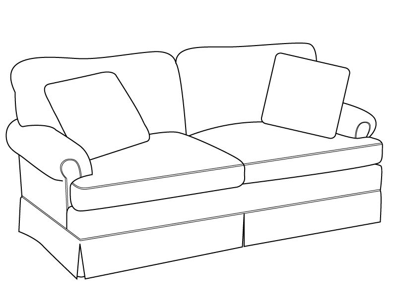 792x612 Sofa Drawingline Drawing Modern Traditions Furniture Efcpakh