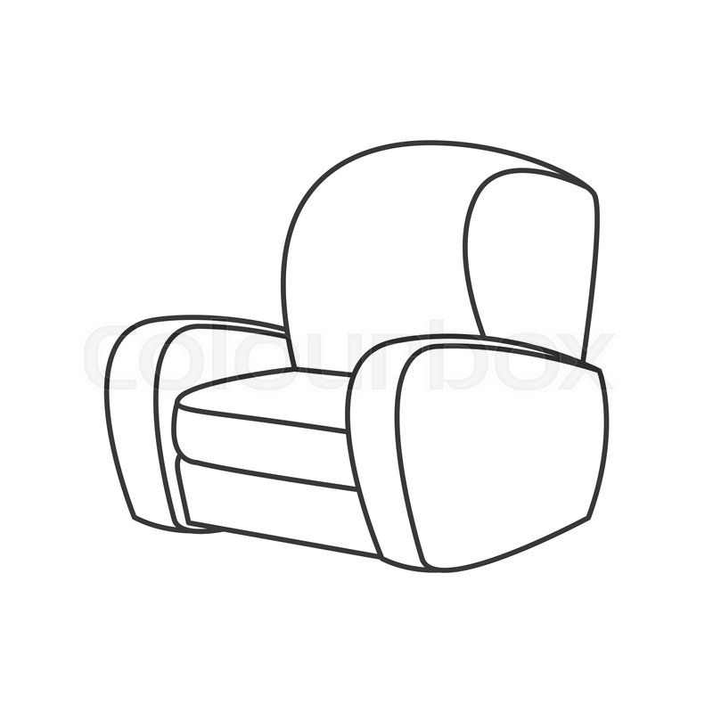 800x800 Sofa Chair Furniture Image Outline Stock Vector Colourbox