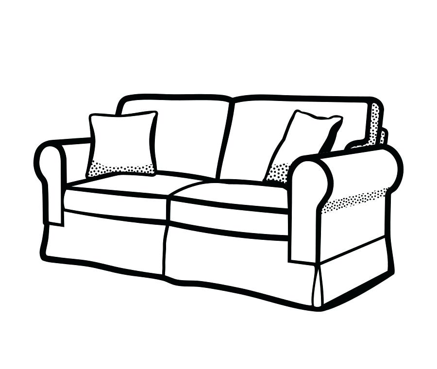 900x760 Drawing Of A Couch