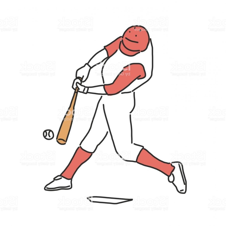 1228x1228 baseball player and softball player line drawing hand drawn vector