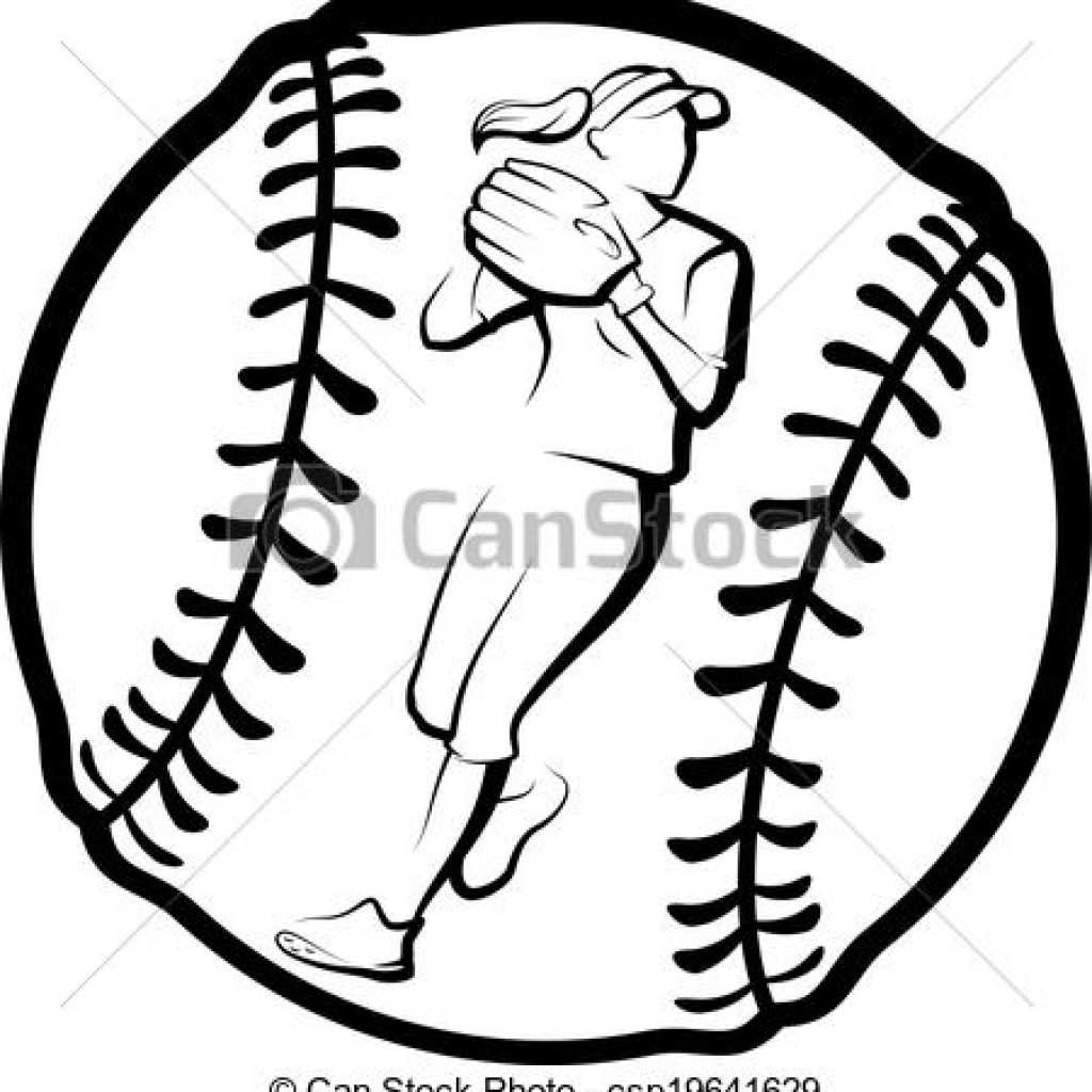 Softball cool. Drawing free download best