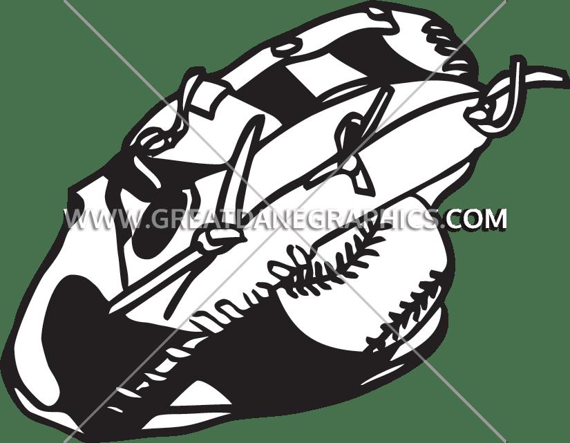 Softball Glove Drawing