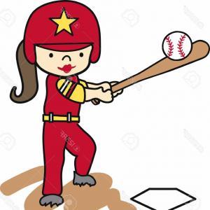 300x300 baseball player and softball player line drawing hand drawn vector