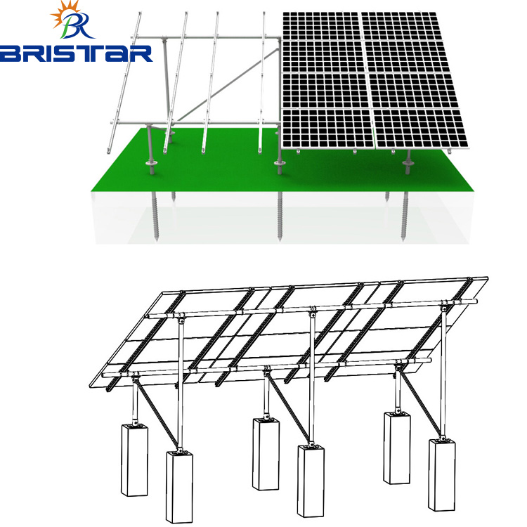 750x750 Low Price Solar Panel Mounting Structure System