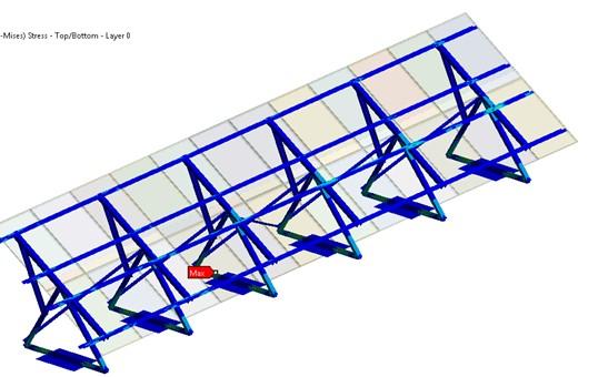 538x340 Solar Panel Mount Fea Simulation