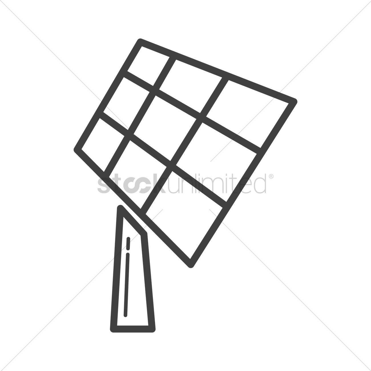 1300x1300 Solar Panel Vector Image