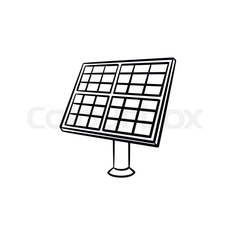 800x800 Solar Panel Industry Hand Drawn Stock Vector Colourbox