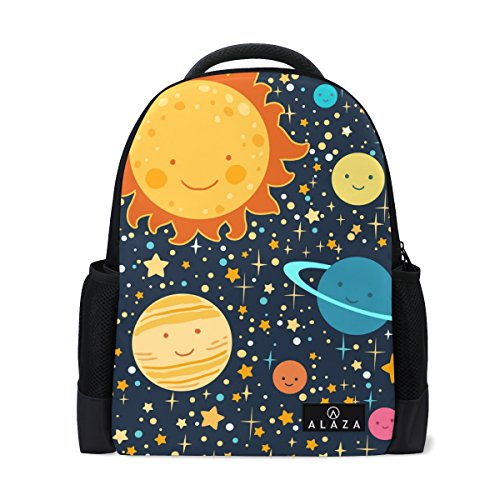 500x500 drawing solar system laptop backpack high school bookbag casual