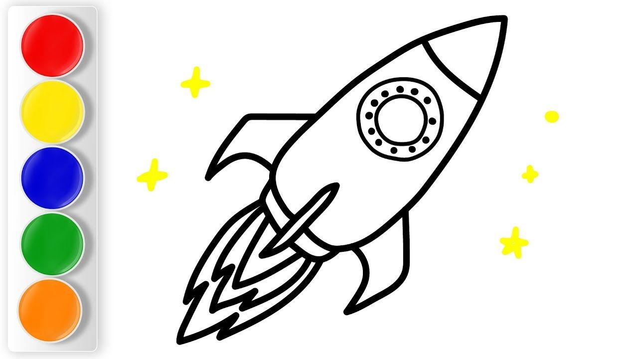 1280x720 How To Draw Spaceship For Kids Education Video For Children