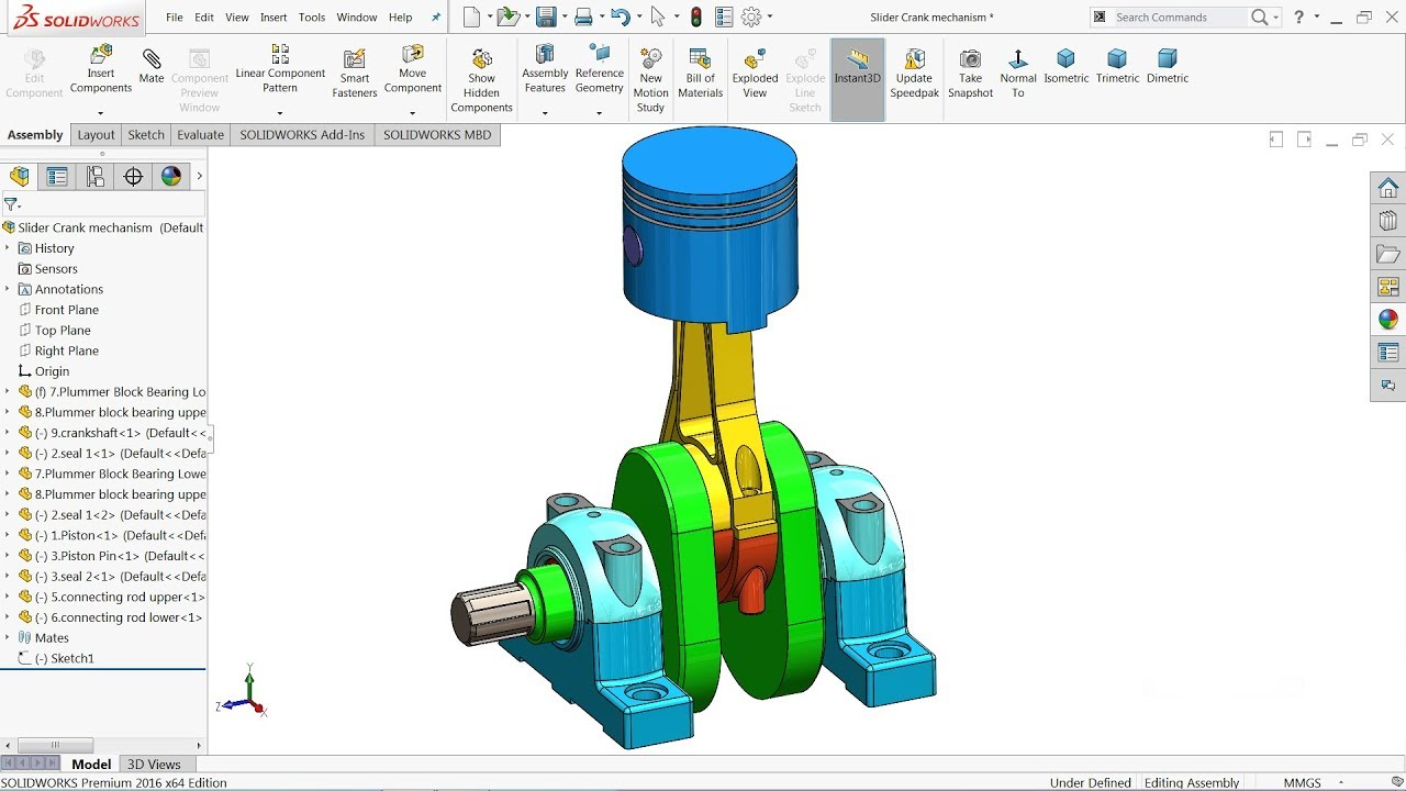 Solidworks Assembly Drawing Exploded View | Free download