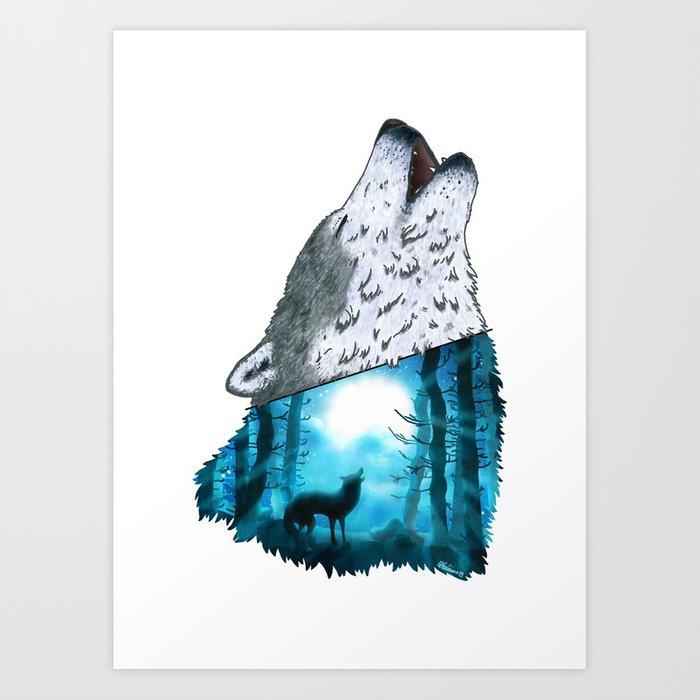 700x700 Wolf's Song Art Print