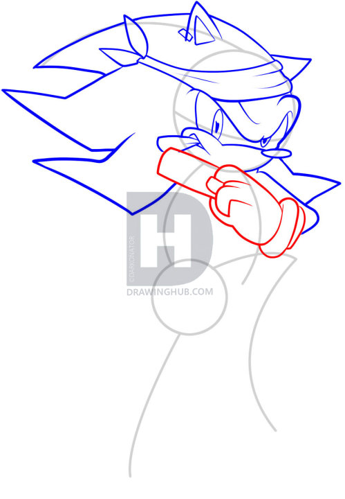 499x720 how to draw gangster shadow, shadow the hedgehog, step