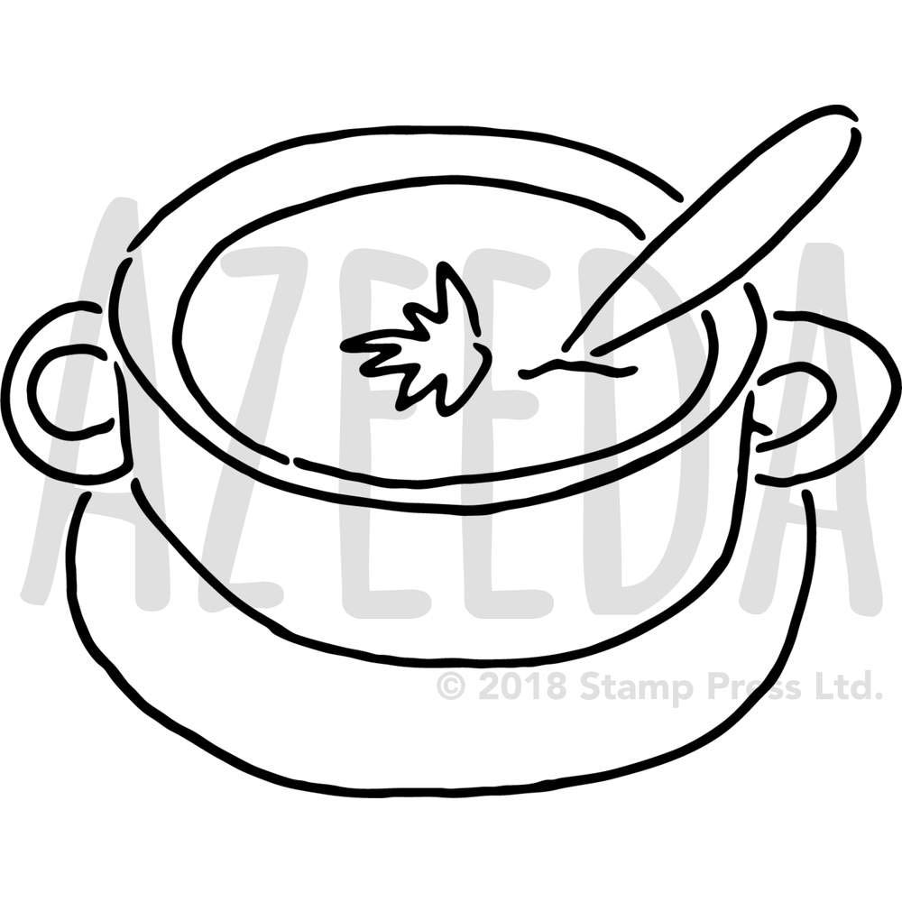 1000x1000 Large 'soup' Wall Stencil Template
