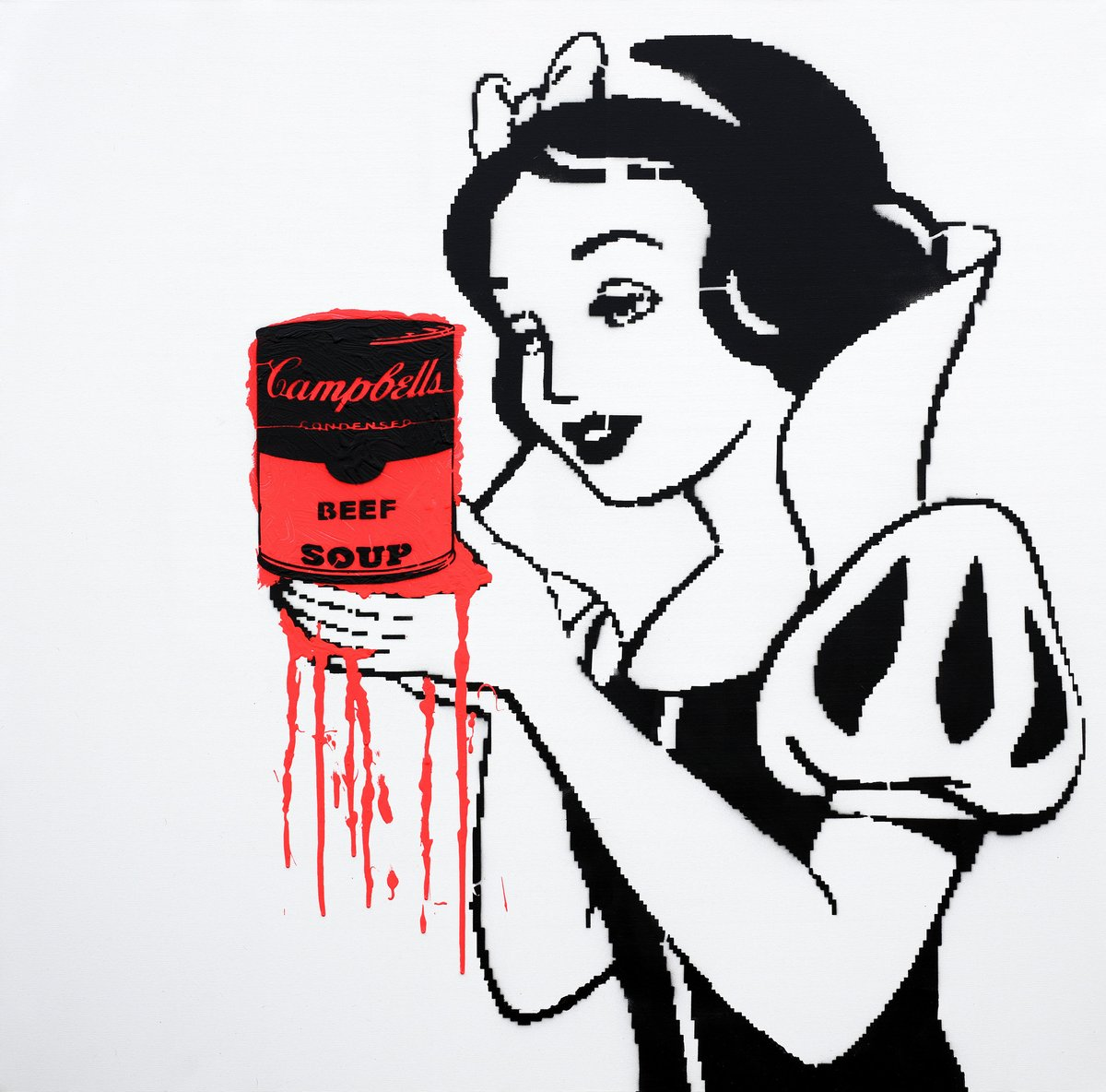 1200x1184 Original Artwork Snow White Holding The Wrong Soup Vegan Club