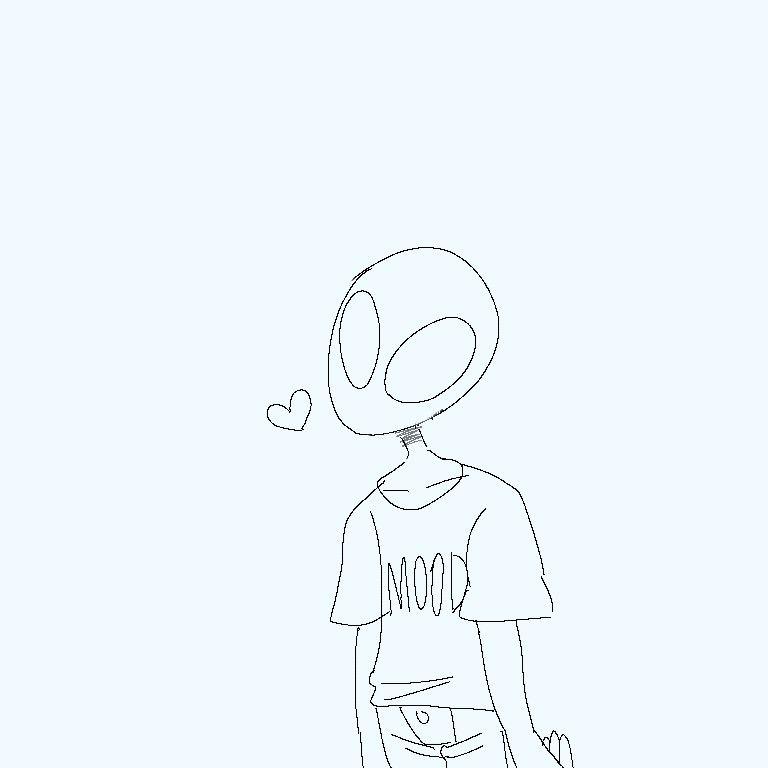 768x768 space loves you art in alien aesthetic, alien art, alien