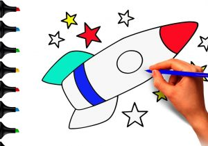 300x210 space drawing for kids how to draw a rocket in space, kids space
