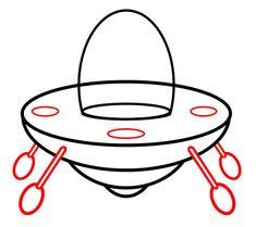 Spaceship Cartoon Drawing