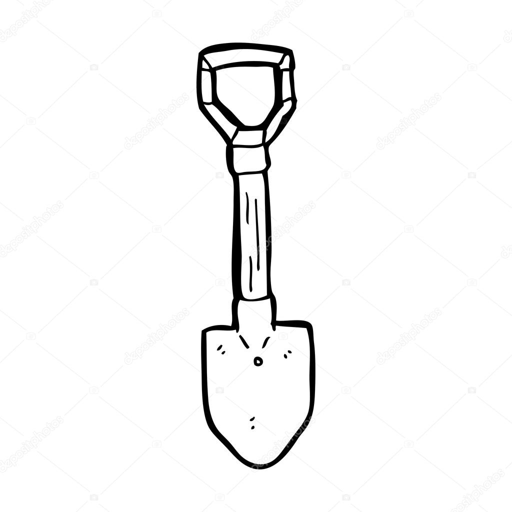 Sketch Of A Spade Black And White