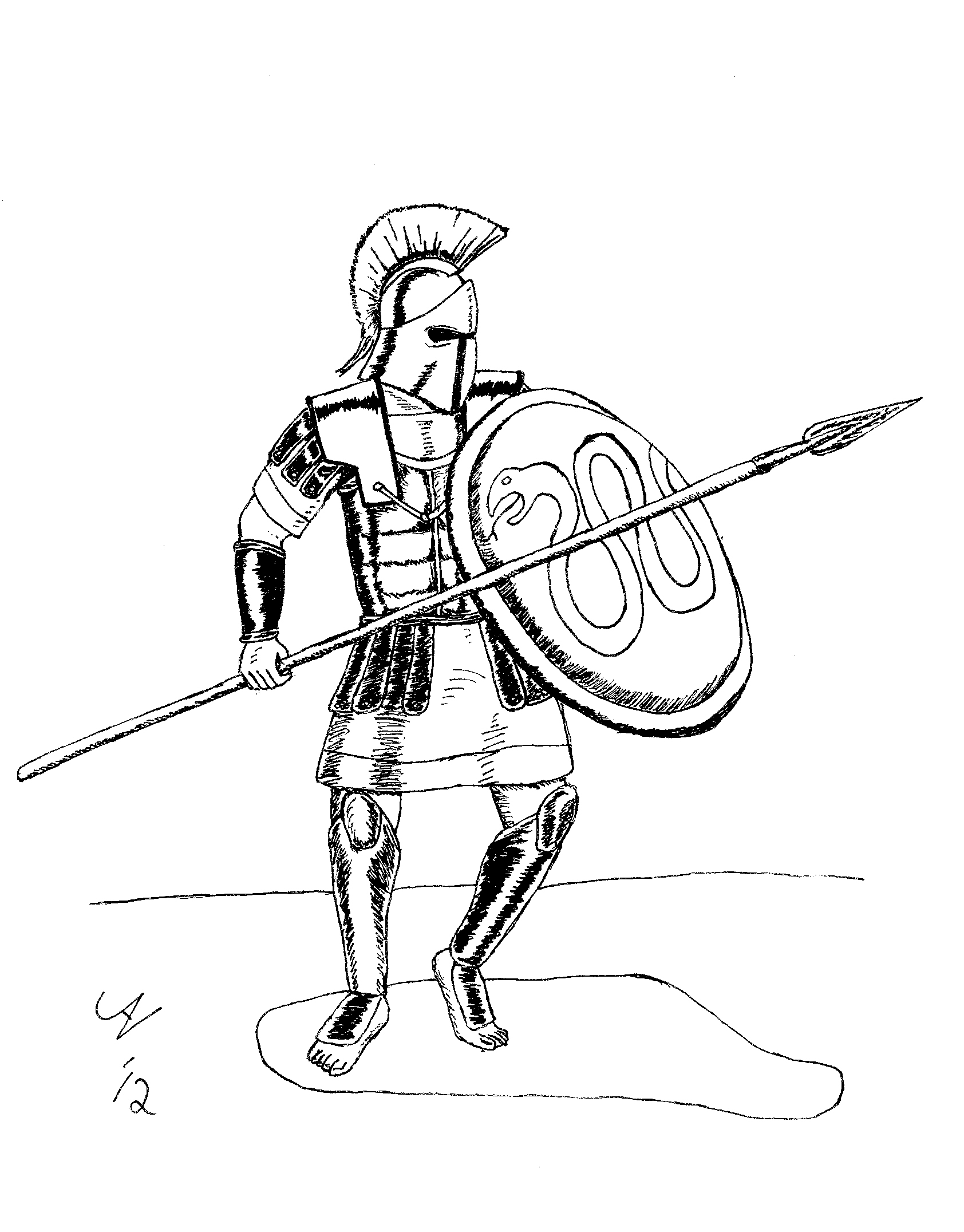 Spartan Soldier Drawing Free Download Best Spartan Soldier