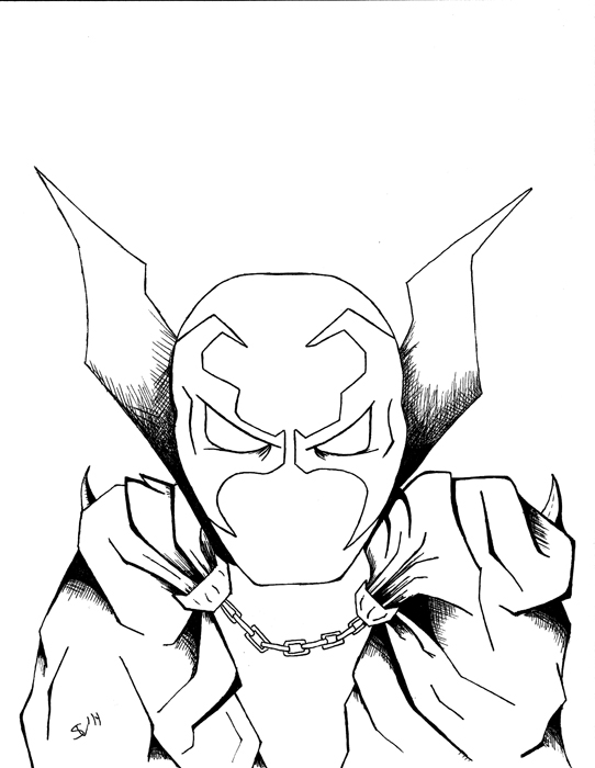 542x700 Spawn Drawing Face For Free Download