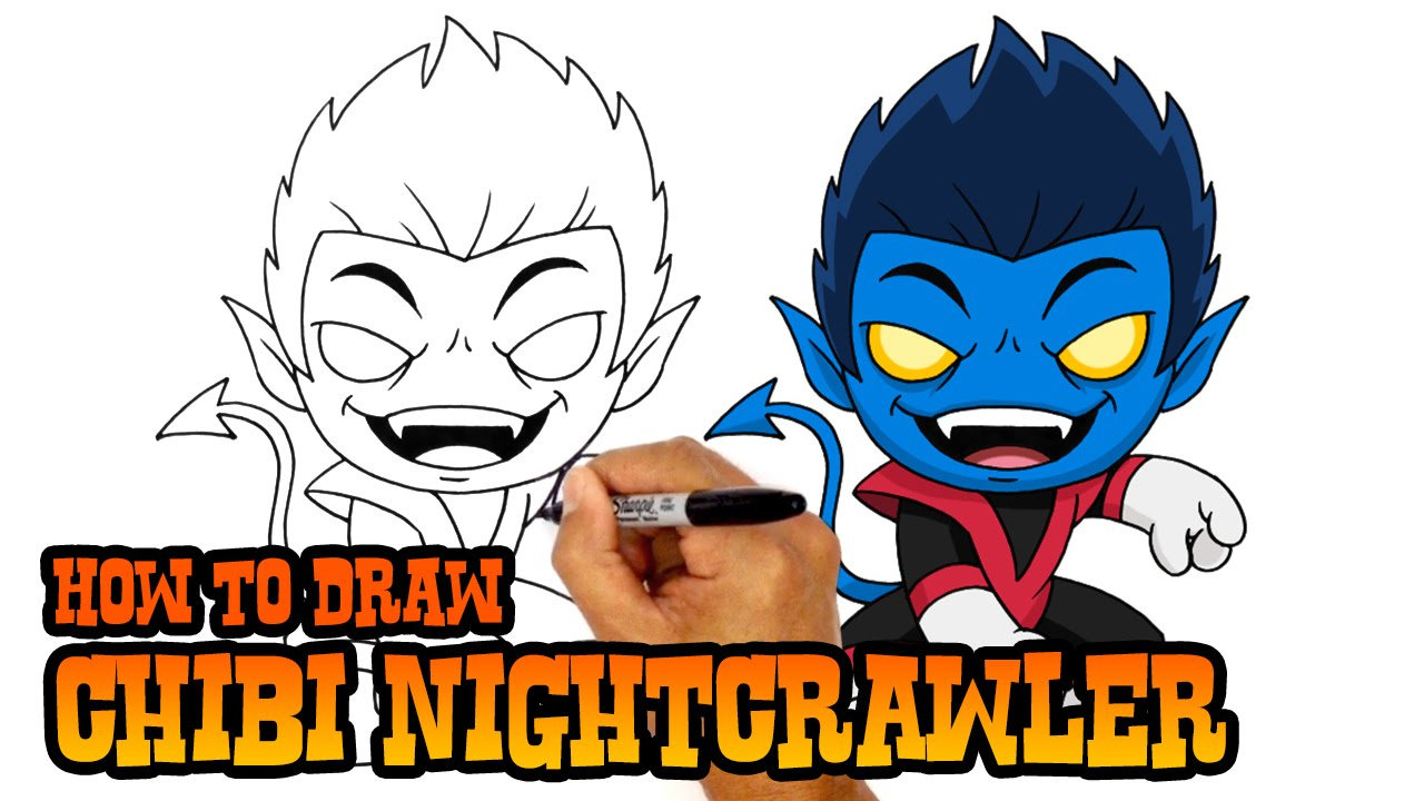 1280x720 How To Draw Nightcrawler X Men