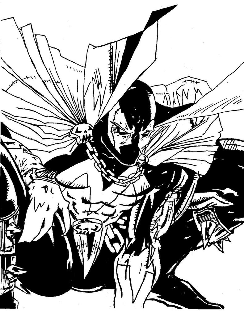 790x1011 Spawn Drawing Tattered For Free Download