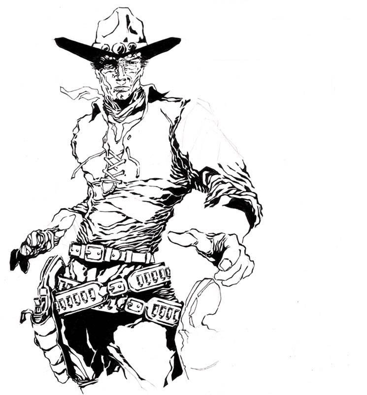 745x800 Spawn Drawing Gunslinger For Free Download