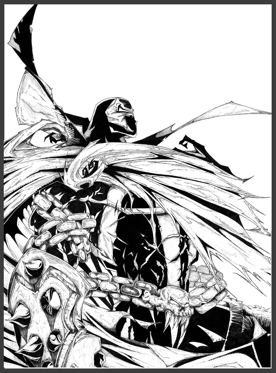952x1285 Spawn Drawing Ink For Free Download