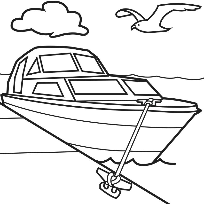 842x842 boat coloring pages for preschoolers speed boat color pages speed