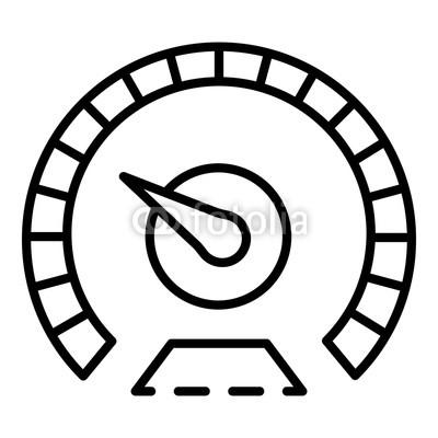 400x400 measure speedometer icon outline measure speedometer vector icon