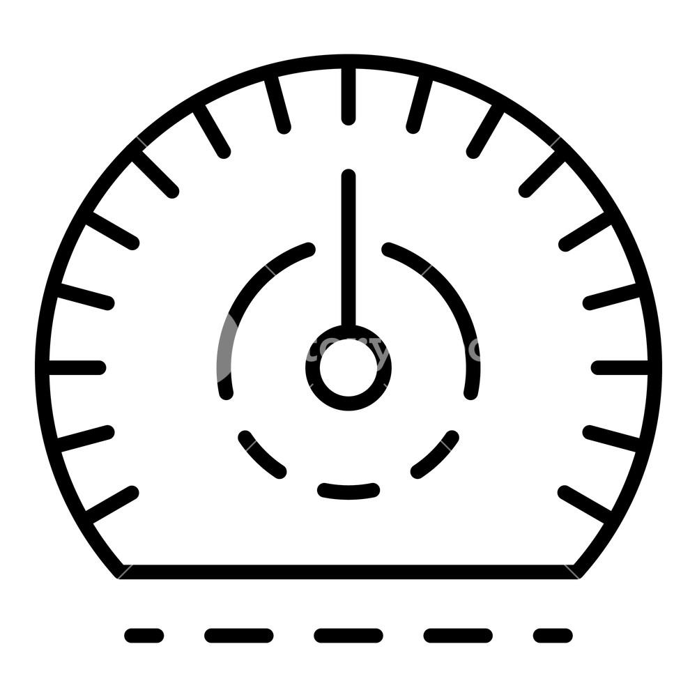 1000x1000 auto speedometer icon outline auto speedometer vector icon