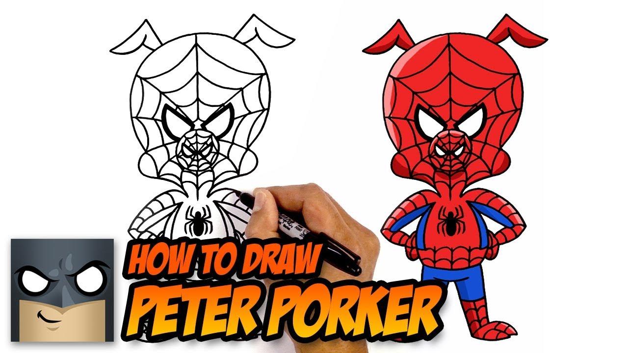 1280x720 how to draw spider ham spider man into the spider verse