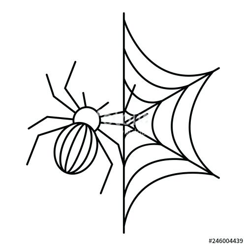 500x500 spider outline spider on web icon outline spider on web vector