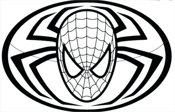 585x374 spiderman face outline face painting spiderman face outline