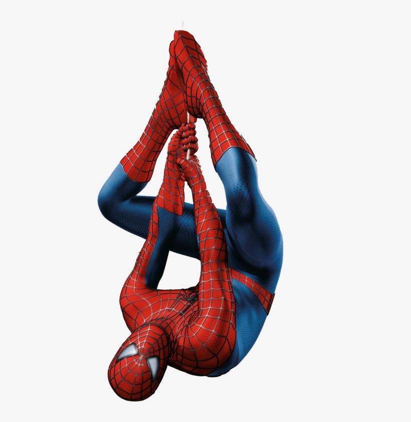 Spiderman upside down. Hanging drawing free download