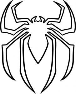 243x302 how to draw the spiderman logo, spiderman symbol step ransoms