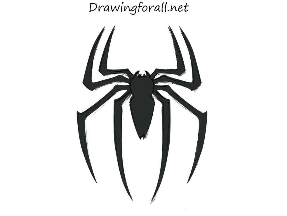983x741 spiderman drawing easy drawing spider man logo spiderman
